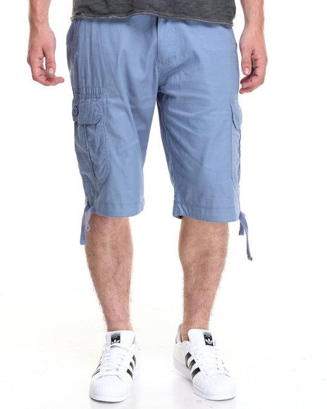 Akademiks Men Cameron Cargo Shorts Blue 38