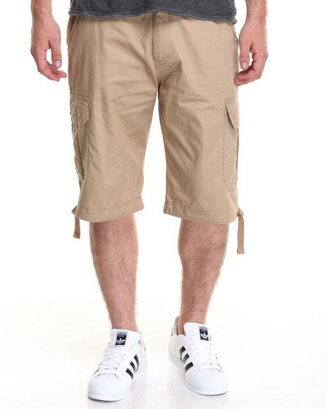 Akademiks Men Cameron Cargo Shorts Khaki 36