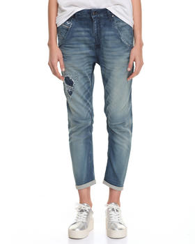 Diesel - FAYZA DROP CROTCH DISTRESSED JEANS
