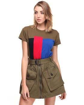 Tops - T-IVES COLOR BLOCK TEE