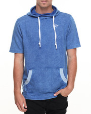 Men - S/S High Collar Hoodie