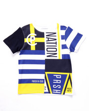 Boys - CLUB NATION ALL OVER PRINT TEE (2T-4T)