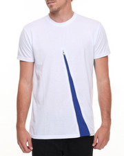 Men - Zipper Contrast Tee