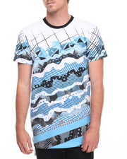 Men - Geometric Elongated Tee