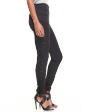 Basic Essentials - Powermesh Sides Skinny Scuba Legging