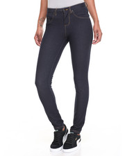 Basic Essentials - Back Flap Pockets Skinny Denim Jegging