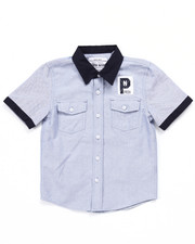 Boys - S/S CLUB NATION OXFORD SHIRT (4-7)