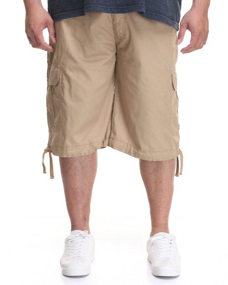 Akademiks Men Cameron Cargo Shorts (B&T) Khaki 50