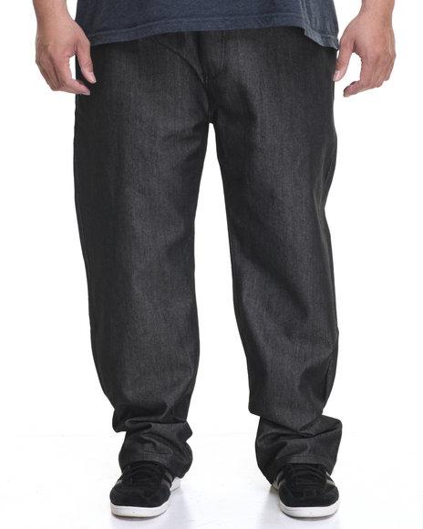 Flysociety Men Raw Denim Jean (B&T) Black 46x32