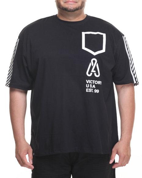 Akademiks Men Link T-Shirt (B&T) Black 6X-Large