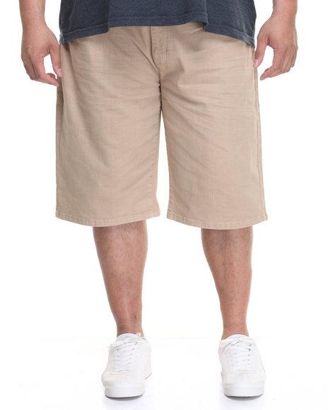 Akademiks Men Rush Short Twill Shorts (B&T) Khaki 50