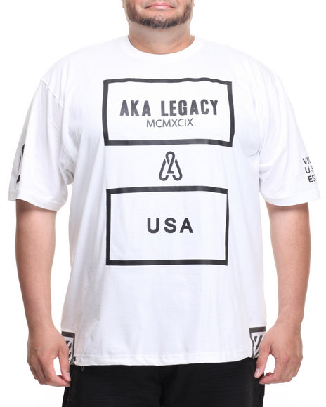 Akademiks Men Click T-Shirt (B&T) White 6X-Large