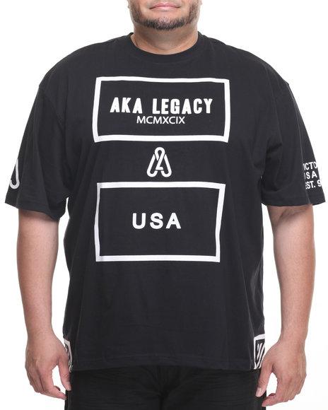 Akademiks Men Click T-Shirt (B&T) Black 5X-Large