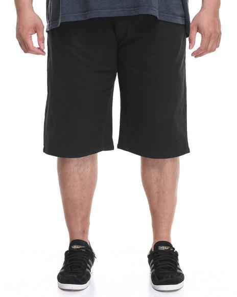 Akademiks Men Rush Short Twill Shorts (B&T) Black 54
