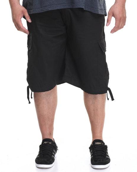 Akademiks Men Cameron Cargo Shorts (B&T) Black 50