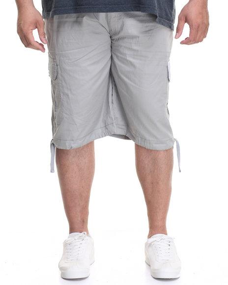 Akademiks Men Cameron Cargo Shorts (B&T) Grey 50