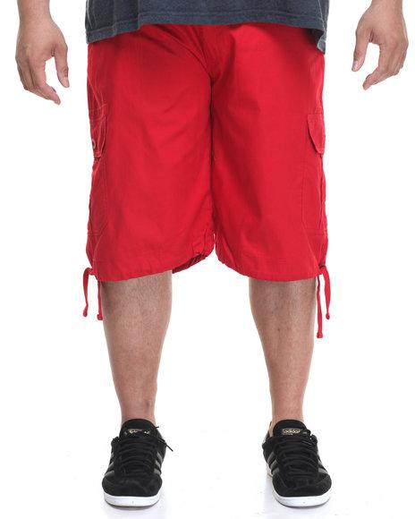 Akademiks Men Cameron Cargo Shorts (B&T) Red 46