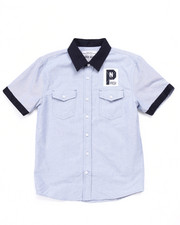 Tops - S/S CLUB NATION OXFORD SHIRT (8-20)