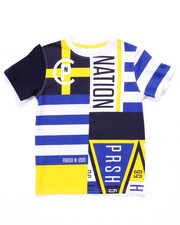 Boys - CLUB NATION ALL OVER PRINT TEE (4-7)