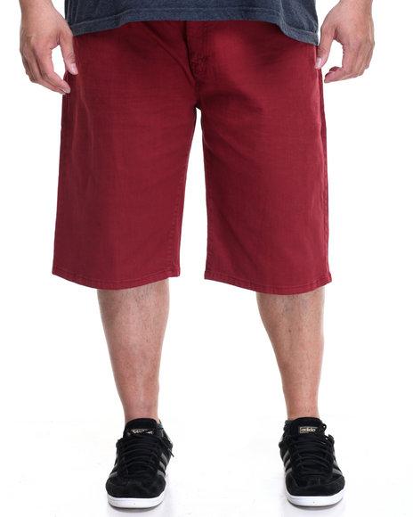 Akademiks Men Rush Short Twill Shorts (B&T) Maroon 54