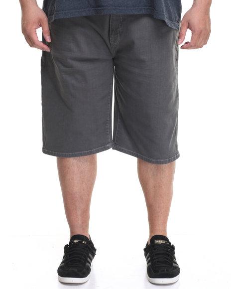 Akademiks Men Rush Short Twill Shorts (B&T) Grey 48