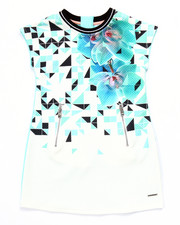 Girls - GEO DRIP DRESS (7-16)