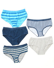 Intimates & Sleepwear - Stripes/Solid Print 5Pk Cotton Shorts