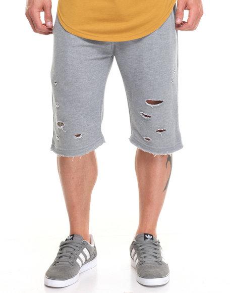 Buyers Picks Men Ripped Terry Shorts Grey Medium