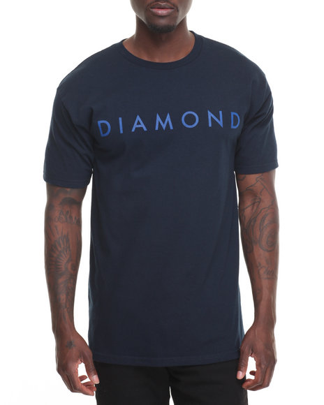 Diamond Supply Co Men Facet Tonal Tee Navy Small
