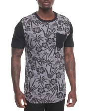 Men - Tropical Drop Hem Tee