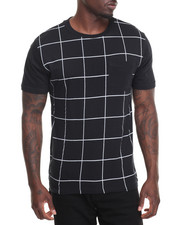 Men - Grid Crewneck Tee