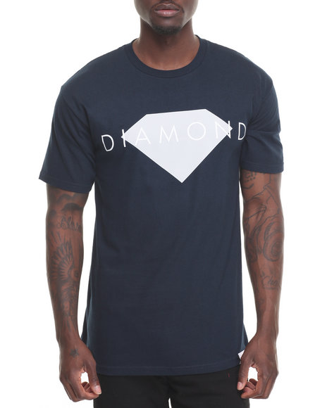 Diamond Supply Co Men Diamond Solid Tee Navy XX-Large