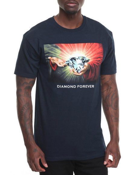 Diamond Supply Co Men Diamond Forever '16 Tee Navy Medium