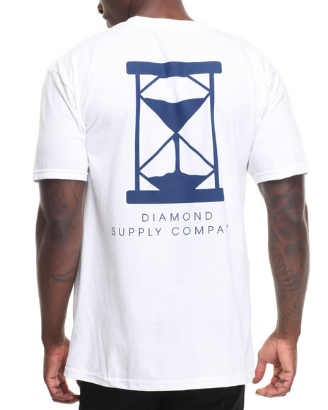 Diamond Supply Co Men Hourglass Tee White Large