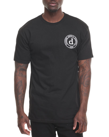 Diamond Supply Co Men College Seal Tee Black Medium
