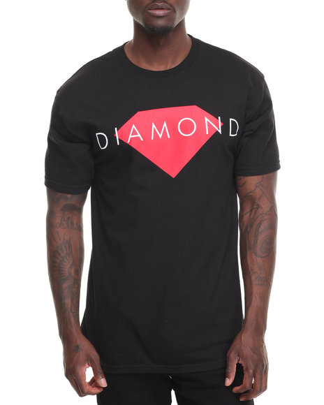 Diamond Supply Co Men Diamond Solid Tee Black Small
