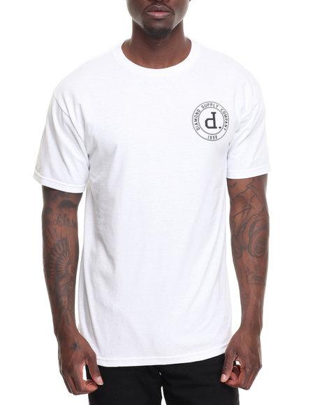 Diamond Supply Co Men College Seal Tee White Large