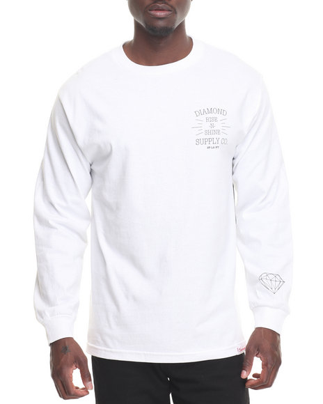 Diamond Supply Co Men Rise N Shine L/S Tee White XX-Large