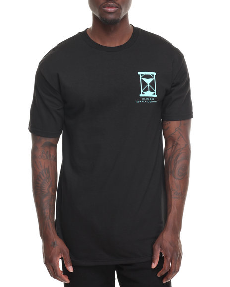 Diamond Supply Co Men Hourglass Tee Black Small