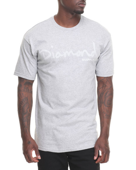 Diamond Supply Co Men Tonal Og Script Tee Grey XX-Large