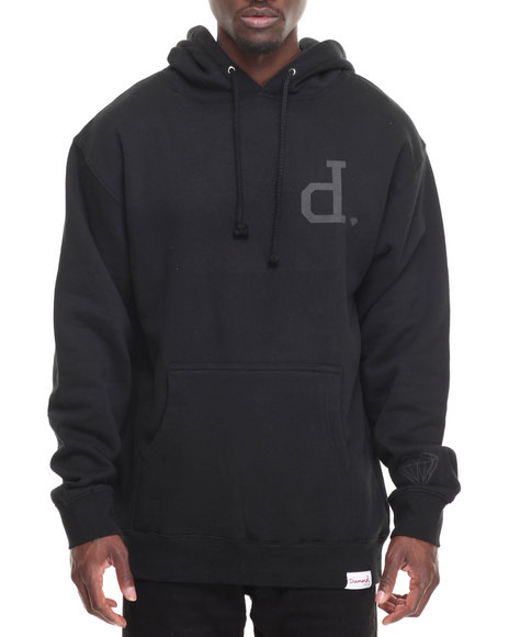 Diamond Supply Co Men Tonal Un Polo Hoodie Black Medium