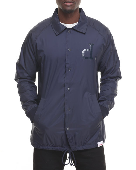 Diamond Supply Co Men Tonal Un Polo Coach's Jacket Navy X-Large