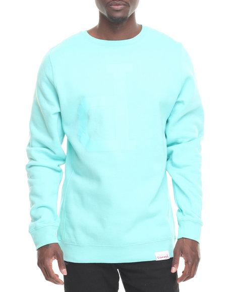 Diamond Supply Co Men Tonal Og Script Crewneck Sweatshirt Teal Medium