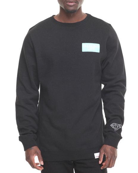 Diamond Supply Co Men Diamond Life Crewneck Sweatshirt Black X-Large