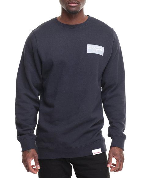 Diamond Supply Co Men Diamond Life Crewneck Sweatshirt Navy Medium