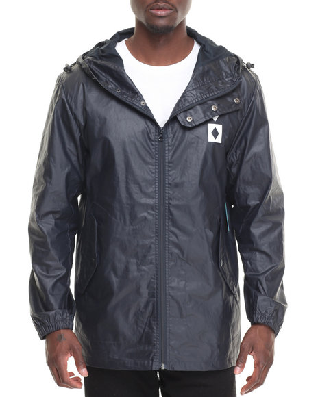 Diamond Supply Co Men Marquise Waxed Raincoat Navy X-Large