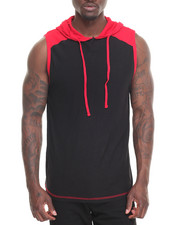 Men - Core Colorblocked Sleeveless Hoodie