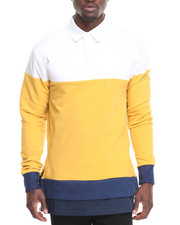 Men - Clean Ribbed L/S Polo