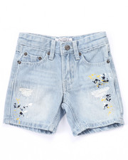 Bottoms - SPLATTER CLUB NATION DENIM SHORTS (2T-4T)
