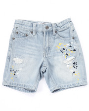 Bottoms - SPLATTER CLUB NATION DENIM SHORTS (4-7)